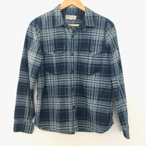 Madewell Button Front Plaid Shirt Medium